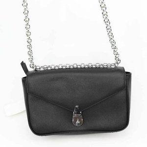 Calvin Klein Womens Lock Crossbody Bag Black Chain